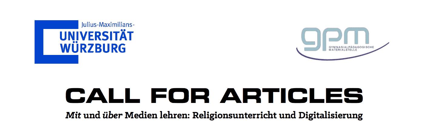Call for Articles: Religionsunterricht und Digitalisierung – Mit und ...