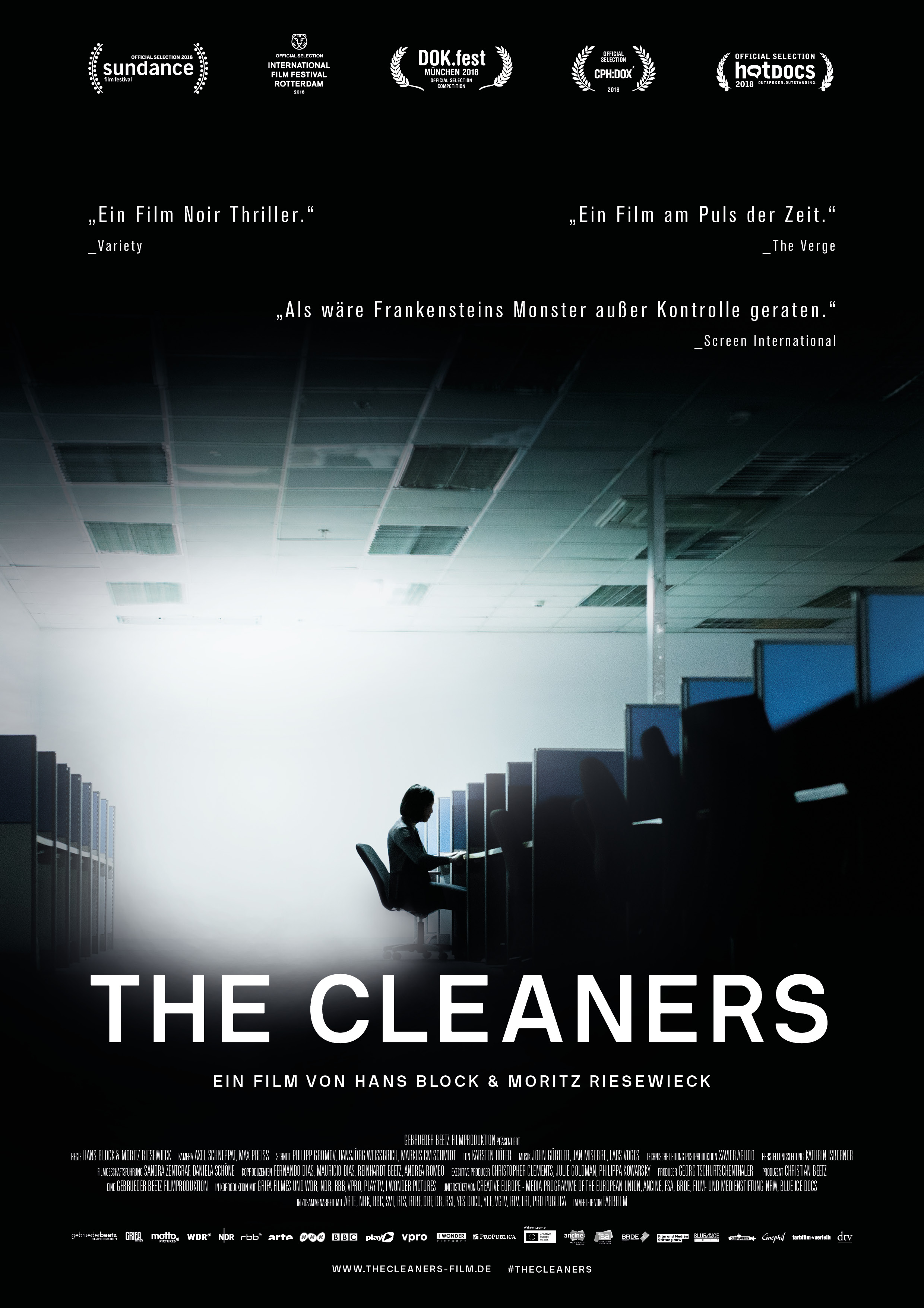 Filmplakat THE CLEANERS © farbfilm verleih GmbH 2018