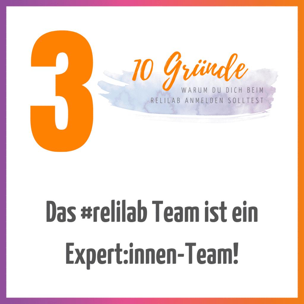 Das #relilab Team ist ein Expert:innen-Team!